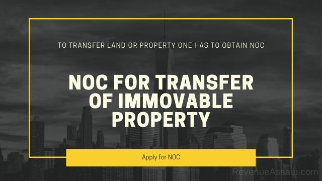 Apply for NOC for Land Sale in Assam
